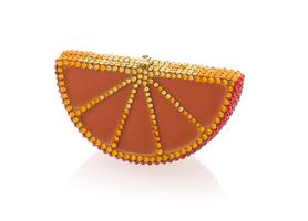 Judith Leiber Couture Orange Slice Pillbox