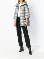 """Herno Silver Iconico """"Cleofe"""" Quilted Puffer Jacket"""