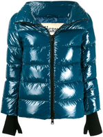 Herno Teal Glove Detail Puffer Jacket