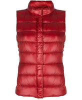 "Herno Red Iconico ""Giulia"" Quilted Puffer Vest"