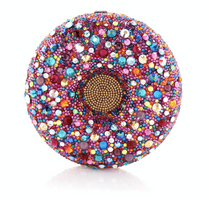Judith Leiber Couture Donut Confetti Sprinkles Crystal Clutch