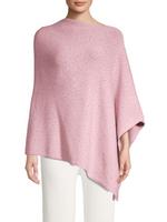 La Fiorentina Sparkle Embellished Asymmetrical Pink Poncho
