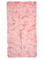 Wolfie Furs Blush Pink Fox Fur Throw Blanket