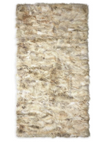 Wolfie Furs Natural Beige Coyote Fur Throw Blanket