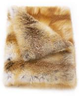 Pologeorgis Natural Red Fox Fur Throw Blanket