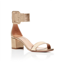 Aquazzura Casablanca Gold Leather Sandal