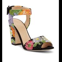 Giuseppe Zanotti Lavinia Suede Crystal Flower Heel