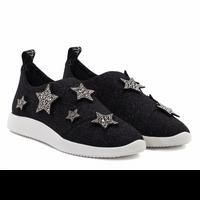 Giuseppe Zanotti Donna Black Shimmer Sneaker