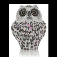 Judith Leiber Couture Crystal Snowy Owl Minaudière