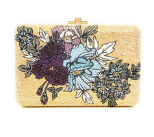 Judith Leiber Couture Slim Slide Petals Crystal-Covered Clutch