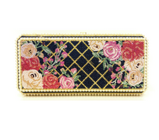 Judith Leiber Couture  Slim Rectangle Pearl Bouquet Clutch