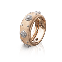 Buccellati Macri Eternelle Diamond Ring in 18k Rose Gold