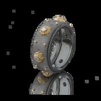 Buccellati Macri Eternelle Diamond Ring in 18k Black Gold