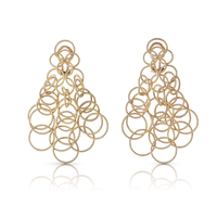 Buccellati Hawaii Short 7cm Pendant Earrings in 18k Pink Gold