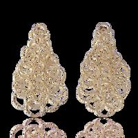 Buccellati Hawaii 9.5cm Pendant Earrings in 18k Pink Gold