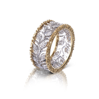 Buccellati Eternelle Ring w/ Diamonds in 18k Yellow/White Gold