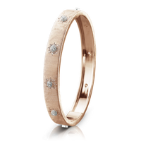 Buccellati Macri Classica 18k Rose Gold Diamond Bangle