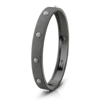 Buccellati Macri Classica 18k Black Gold Diamond Bangle