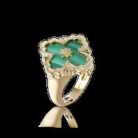 Buccellati Opera Malachite Floral Ring