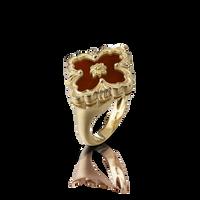 Buccellati Opera Red Jasper Floral Ring