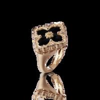 Buccellati Opera Onyx Floral Ring