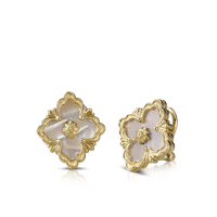 Buccellati Opera Mother of Pearl Button Earrings