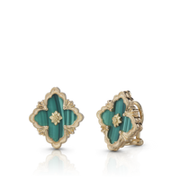 Buccellati Opera Malachite Button Earrings