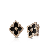 Buccellati Opera Onyx Button Earrings