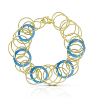 Buccellati Hawaii Color Bracelet in 18k Yellow Gold & Chalcedony