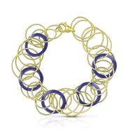 Buccellati Hawaii Color Bracelet in 18k Yellow Gold & Lapis