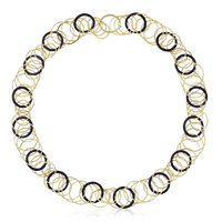 Buccellati Hawaii Color Necklace in 18k Yellow Gold & Onyx