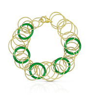 Buccellati Hawaii Color Bracelet in 18k Yellow Gold & Jade