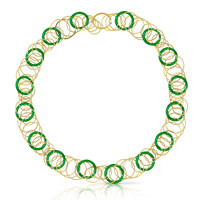 Buccellati Hawaii Color Necklace in 18k Yellow Gold & Jade