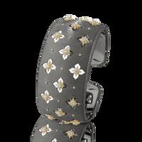Buccellati Macri Giglio Cuff Diamond Black Gold Bracelet