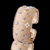 Buccellati Macri Giglio Cuff Diamond Rose Gold Bracelet