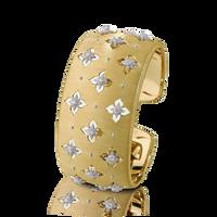 Buccellati Macri Giglio Cuff Diamond Yellow Gold Bracelet