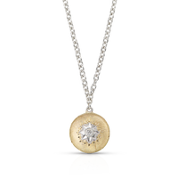 Buccellati Macri Pendant Necklace in 18k Yellow Gold w/ Diamond