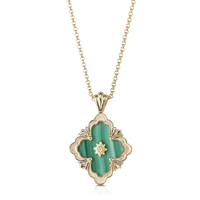 Buccellati Opera Malachite Pendant Necklace