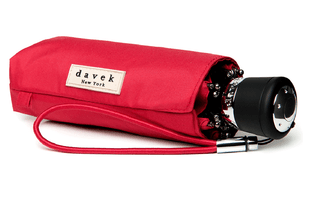 Davek Mini Umbrella- Deep Red
