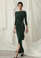 Chiara Boni La Petite Robe Gonnen Velvet Long Dress