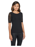 Anatomie Orly Lace Top - Black