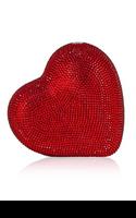 Judith Leiber Red Heart Crystal Minaudière Clutch