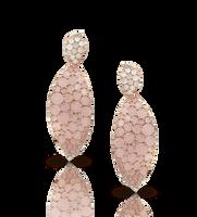 Pasquale Bruni Lakshmi 18k Rose Gold Lakshmi Earrings with Pink Chalcedony, Moonstone and Diamonds