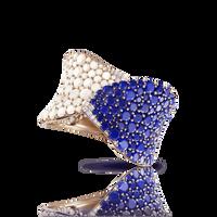 Pasquale Bruni 18k Rose Gold Lakshmi Bracelet with Lapis Lazuli, Moonstone and Diamonds