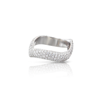 Pasquale Bruni 18k White Gold Sensual Touch Ring with Diamonds