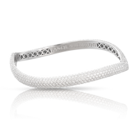 Pasquale Bruni 18k White Gold Sensual Touch Bracelet with Diamonds