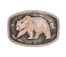 Bohlin Steriling Silver and Gold 1884 Bear Trophy Buckle