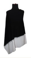 Augustina's Stitched Poncho in Black and White