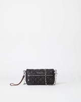 MZ Wallace Quilted Black Crosby Convertible Wristlet
