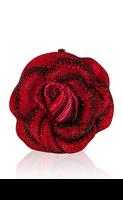 Judith Leiber American Beauty Rose Clutch Bag